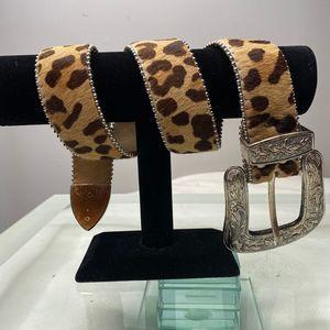 Belt By Simon Pony Hair Leopard